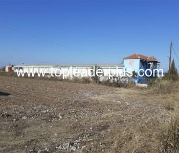 Имот с промишлено помещение за продажба на 7 км. от гр. Серес, Р. Гърция